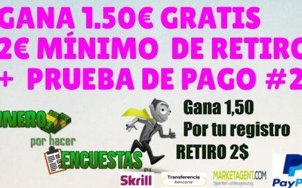 GANA 1.50€ GRATIS Y MÁS DE 50€ MENSUALES POR PAYPAL DE FORMA FÁCIL Y RAPIDA + PRUEBA DE PAGO #2
