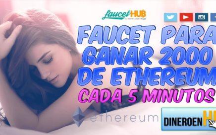GANA 2000 DE ETHEREUM CADA 5 MINUTOS CON ESTA FAUCET CON PAGOS DIRECTOS A FAUCETHUB