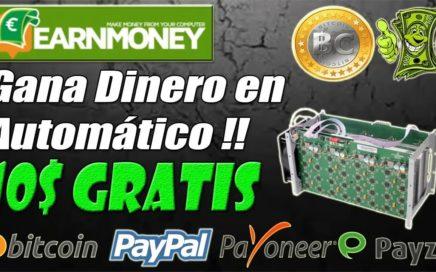 GANA 50 DOLARES PAYPAL MINANDO DESDE TU PC EARNMONEY NETWORK 2017 - 2018