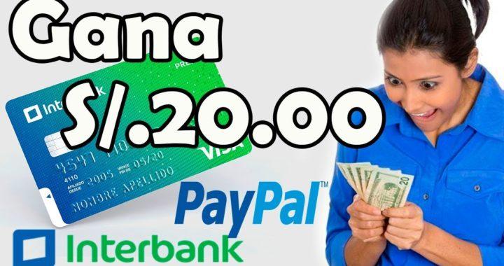 GANA DINERO CON INTERBANK | GANA DINERO PARA PAYPAL | PROMO INTERBANK APP
