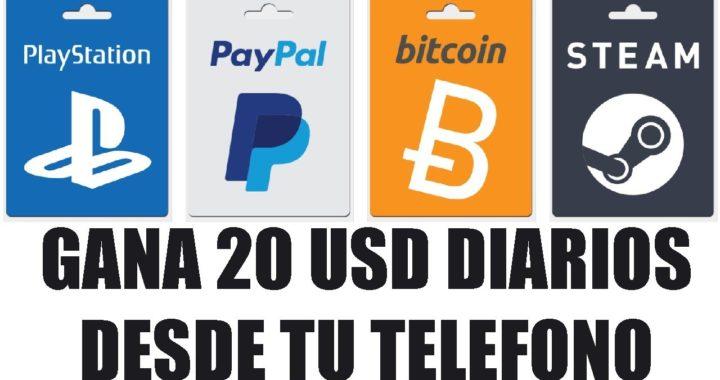 Gana dinero desde tu Smartphone | PayPal o Bitcoins