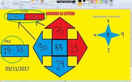 Gana Dinero facil -Numeros ganadores para hoy 03/11/17 / Como Ganar chance