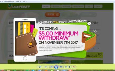 Gana Dinero Gratis con Earn Money Network  $51 Dólares gratis a PayPal en al Tener el PC encendido