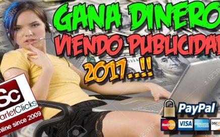 GANA DINERO VIENDO PUBLICIDAD 2017 | Scarlet-Clix | Gana dinero desde tu casa