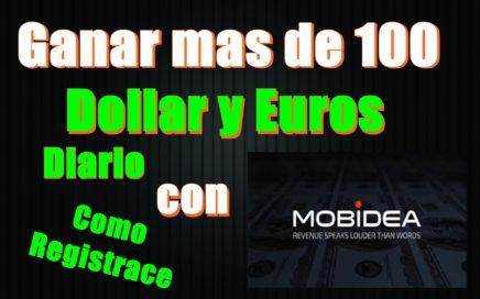 Ganar Dinero con Mobidea  tutorial ( gana dinero hasta 100 dolar y euro diario)