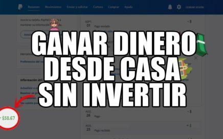 GANAR DINERO DESDE CASA SIN INVERTIR | CON LA COMPUTADORA ENCENDIDA | 60$ DOLARES - 2017