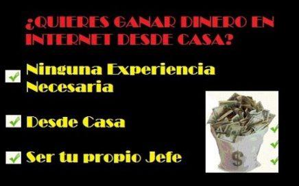 GANAR DINERO EN INTERNET EN CASA |SIN INVERTIR| 2017 |DEDICACIÓN = DINERO| SER TU PROPIO JEFE
