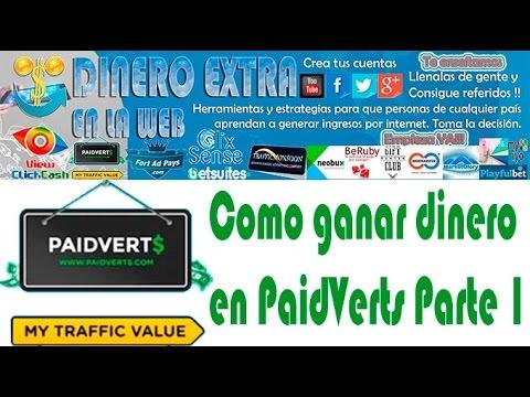 Ganar dinero en PaidVerts 2015 Parte 1   DINERO EXTRA EN LA WEB