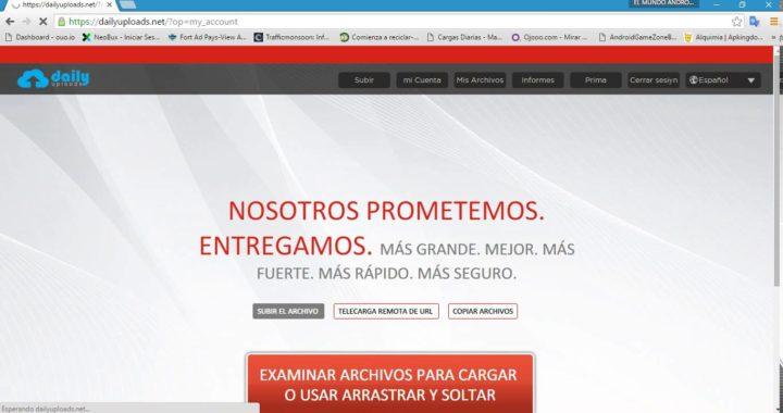 GANAR DINERO SUBIENDO ARCHIVOS 25 DOLARES POR CADA 1000 DESCARGAS