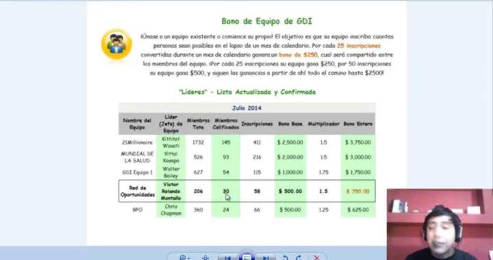 GDI Plan de Ganancias 2015 excelente plataforma de ganar dinero rapido