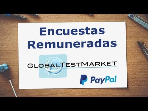 GlobalTestMarket cobro de MarketPoints PayPal $650.00 (Encuestas Online)