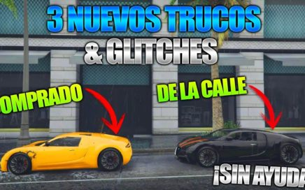 GTA 5 Online - 3 NUEVO TRUCOS & GLITCHES 1.41! (Aparecer Coche de Lujo, Customs Glitch & Mas!)