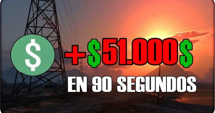 GTA V ONLINE - COMO GANAR $ 51.000 $ EN 90 SEGUNDOS !! DINERO RAPIDO GTA 5 ONLINE