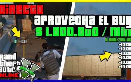 "INCREIBLE APURATE!! APROVECHA EL BUG EN DIRECTO CAPTURA  ""GTA V ONLINE"" MONEY GLITCH"