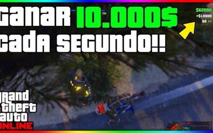 INCREIBLE!! GANAR 10.000$ CADA SEGUNDO EN GTA V ONLINE!! CAPTURA MODEADA GTA V 1.41