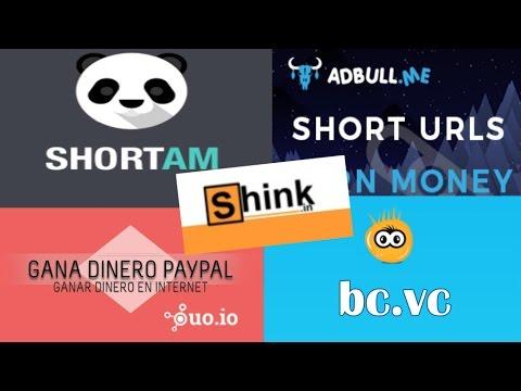 LOS 5 MEJORES ACORTADORES que mas pagan!! PARA COMBINAR Ganar Dinero Online
