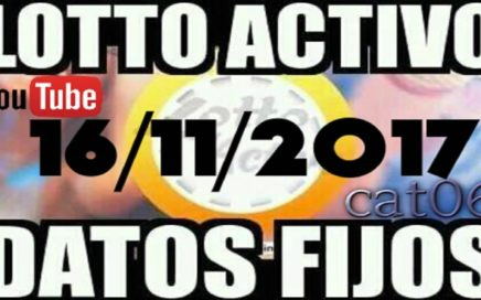 LOTTO ACTIVO DATOS FIJOS PARA GANAR  16/11/2017 cat06
