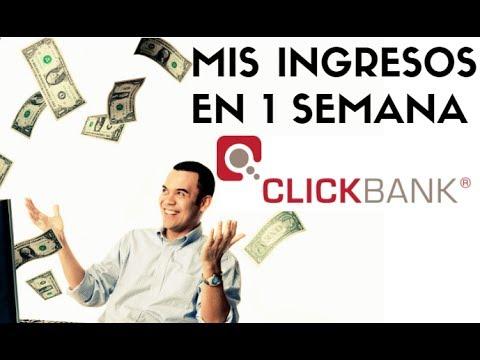 MIS INGRESOS DE CLICKBANK EN 1 SEMANA - ganar DINERO desde CASA