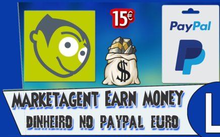 Novidade Ganhar dinheiro Paypal 2€ Euro A 15€ Euro Ou+ { marketagent } Rápido