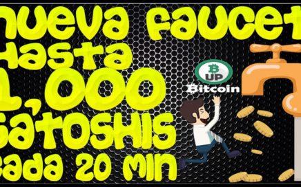 Nueva Faucet, Gana hasta 1,000 satoshis cada 20 minutos, Como Hacer Dinero, con Bitcoin Gratis