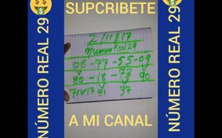 NÚMERO PARA HOY 2 DE NOVIEMBRE DEL /2/11/17 PARA JUGAR EN TODA LAS LOTERIAS!¡FÁCIL DE GANAR DINERO!¡