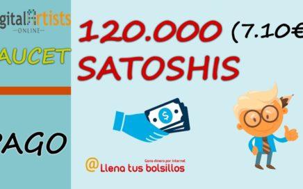 Pago semanal Digital Artists Online | 120.663 (7,10€) satoshis gratis en Coinbase