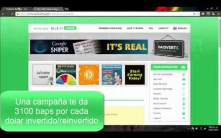 PaidVerts | Gana dinero ONLINE | La PTC del momento | ¿Cómo funciona?