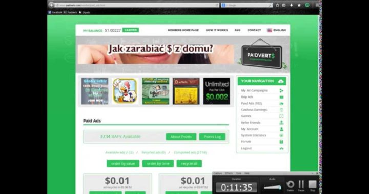 PAIDVERTS registro mas ADS y BAPS comienza a ganar dinero  extra
