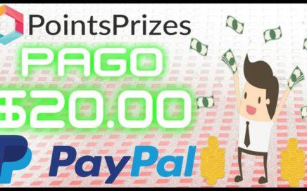 PointsPrizes Me paga $20.00 Por PayPal GRATIS !!  Gana Dinero Incluso Jugando [ Quiero Dinero ]