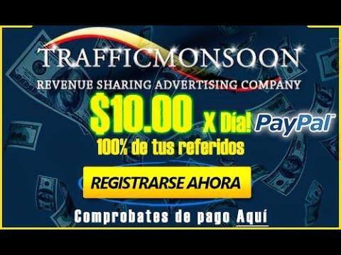 Trafficmonsoon 2015 (PTC) | ¿Como Funciona? | Ganar Dinero Rápido Para PayPal