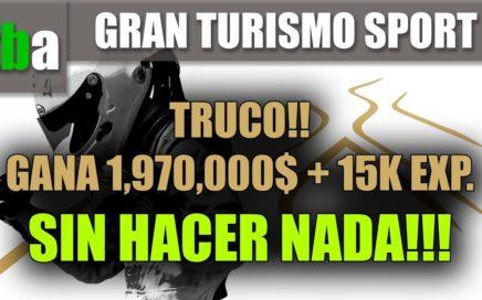 TRUCO - GANA 1,970,000 $ SIN HACER NADA!! DINERO FACIL // GRAN TURISMO SPORT