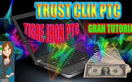 TrustClix Que es y como Funciona? | Trust clix 2017 Trucos para ganar Dinero | Trustclix PTC Paga