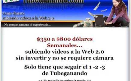 Tubeganando - Como ganar dinero subiendo videos - trabajar desde casa es facil - trabajo en internet