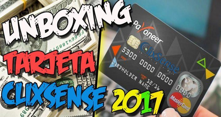 UNBOXING TARJETA CLIXSENSE PAYONEER 2017 | Gana dinero por internet