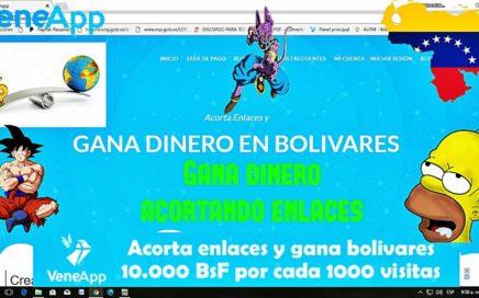 Veneapp | El mejor Acortador de Enlaces que paga en Bolívares (Derrota la inflación) 2017
