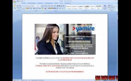 YAMIRE PRESENTACION DE CUANTO PUEDES GANAR GANA DINERO ONLINE YS 2014