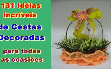 131 Idéias de Artesanato de cestas Decoradas para Todas as Ocasiões | Faça e Venda