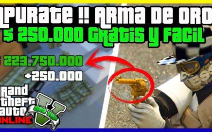 """APURATE!! *SOLO SIN AYUDA* CONSEGUIR ARMA DE ORO + $250.000 EN """"GTA V ONLINE"""" 1.42"""