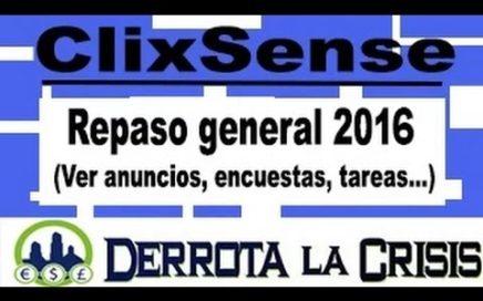 ClixSense Gana Dinero por Ver Anuncios, Encuestas, Tareas, Vídeos, Registros...