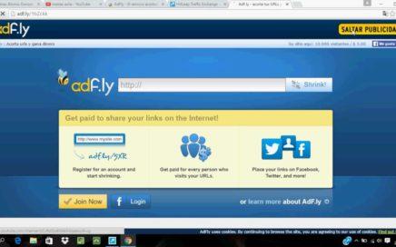 Como conseguir visitas en Adf.ly gratis y ganar dinero en paypal facil