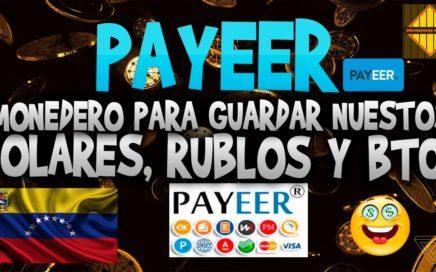 Como crear un monedero payeer / Añadir fondos y retiros ( dolares, rublos y satoshis )