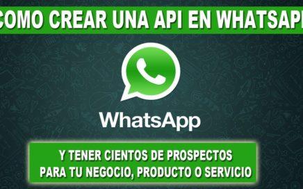 Como Crear Una Api Personalizada De WhatsApp y Tener Miles de Prospectos