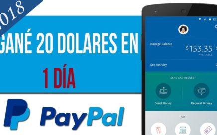 COMO GANAR 20 DOLARES DIARIOS PARA PAYPAL | 2018