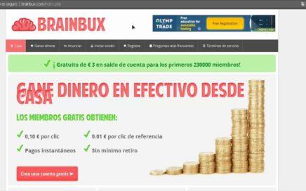 Como ganar dinero con PTC Brainbux - (Regalo de 3 Euros por registro)