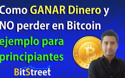 Como GANAR Dinero y NO perder en Bitcoin, ejemplo para principiantes