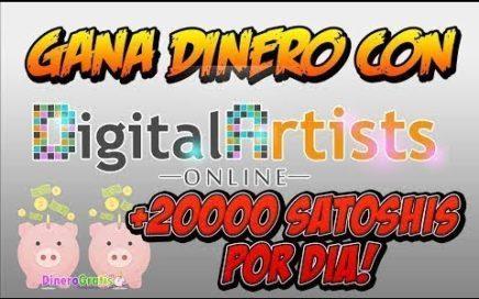 Digital Artists Online Gana 20.000 satoshis Diarios BitCoin Pagando