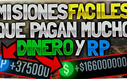 DINERO FACIL EN GTA 5 | MISIONES PARA GANAR MUCHO DINERO Y RP