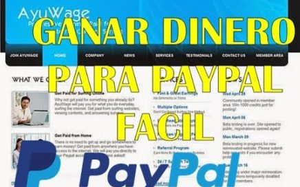 Ganar dinero para Paypal  |||  Mejor Ptc 2017 - 2018  |||  Ganar dinero por internet