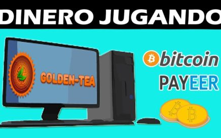 Golden Tea GANA DINERO JUGANDO Paga en Bitcoin y Rublos + BONO REGISTRO