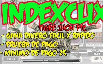 Indexclix PTC Paga Prueba de Pago vía payza | Indexclix Tutorial hermana de Fingersclix y Ads4pro